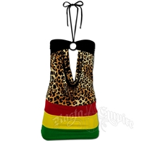 Rasta and Reggae Animal Print Mini Dress