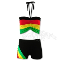Rasta and Reggae Shorts and Top Set