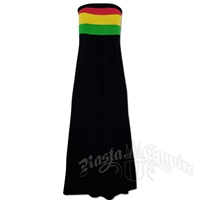 Rasta and Reggae Long Tube Top Dress