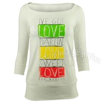 Bob Marley Sweet Love White Scoop Neck - Women's