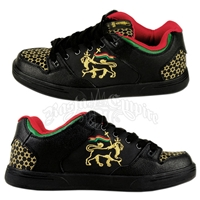 Rasta Lion of Judah Black Shoes - Men's