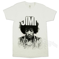 Jimi Hendrix Jimi White T-Shirt - Men's