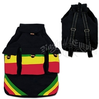 Rasta & Reggae Cinch Backpack - Black