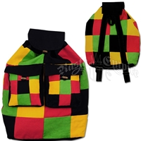 Rasta & Reggae Patchwork Cinch Backpack