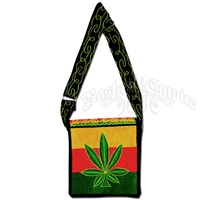 Rasta Marijuana Leaf Square Purse