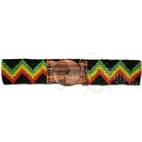 Rasta Zig Zag Beaded Belt