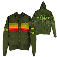 Bob Marley Buffalo Solider Military Green Jacket - Men's