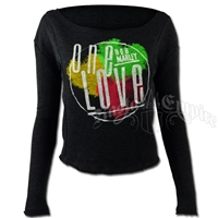 Bob Marley One Love Charcoal Heather Dolman - Women's