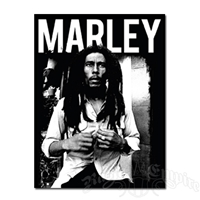 Bob Marley B&W Fleece Throw