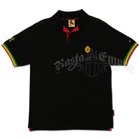 Rasta and Reggae Heritage Black Polo - Men's