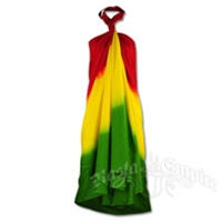 Rasta Tie-Dye Wrap Dress
