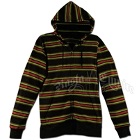 Rasta Striped Lightweight Hoodie - Men's