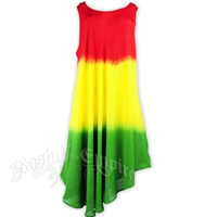 Rasta Tie-Dye Short Summer Dress