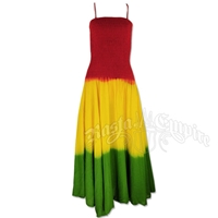 Rasta Tie-Dye Smocked Summer Dress