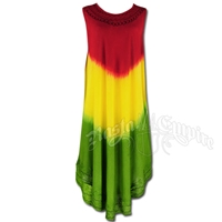 Rasta Tie-Dye Summer Dress