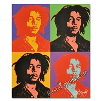 Bob Marley Canvas Painting - Andy Warhol Style 27