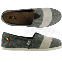 Bob Marley Rita Stripe Chambray Black Shoes - Women's