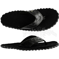 Bob Marley Fresco Black Leather Sandals – Men's