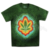 Sweet Leaf Green Tie Dye T-Shirt - Men's