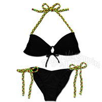 Rasta Braid Keyhole Top and String Tie Side Bikini Swimsuit