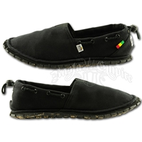 Sanuk Kingston Black Jute Canvas Shoes