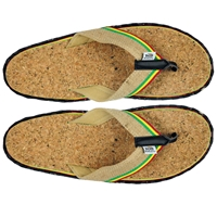 Bob Marley Cork/Hemp Natural Sandals – Men's