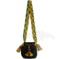 Rasta and Reggae Drawstring Bag with Tassels