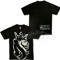 Snow Camo Rasta Lion Black T-Shirt - Men's