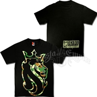 Jungle Camo Rasta Lion Black T-Shirt - Men's