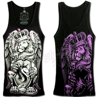 Lion and Crown Black Tank Top - Women's