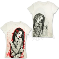 'Tatted Up' Karlie White T-Shirt - Women's