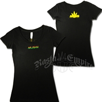 Rasta MJSW Black T-Shirt - Women's