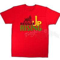 Rasta and Reggae Rising Up Red T-Shirt - Men's
