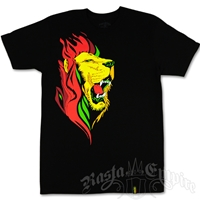Unity Red Fire Lion Black T-Shirt - Men's