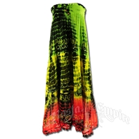 Rasta and Reggae Tie-Dye Summer Dress