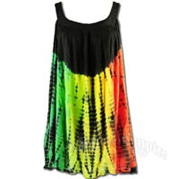 Rasta and Reggae Tie-Dye Top / Mini-Dress