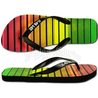 Rasta and Reggae Striped Sandal - Men's
