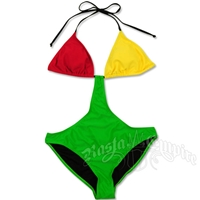 Rasta & Reggae Color Block Monokini Swimsuit