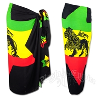 Rasta and Reggae Star of David Lion Sarong