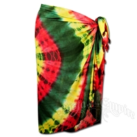 Rasta and Reggae Circle Tie-Dye Sarong