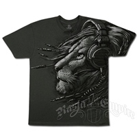 Rasta Plugged In Charcoal T-shirt - Men's