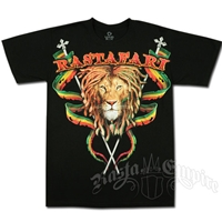 Rastafari Lion Black T-shirt - Men's