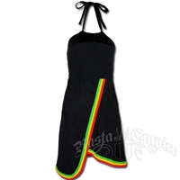 Rasta Border Halter Dress