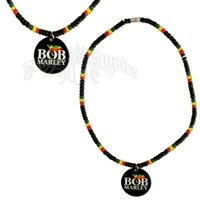 Bob Marley Logo Beaded Necklace