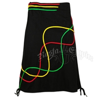 Rasta and Reggae Swirls Sinker Skirt