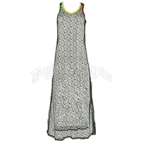 Rasta and Reggae Maxi Mesh Coverup