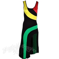 Rasta and Reggae Cut Slit Tank Top Dress