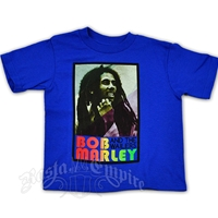 Bob Marley Rasta Pose Blue T-Shirt - Toddler's
