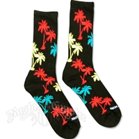Rasta Palm Trees Black Socks