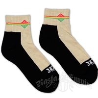 Rasta Stripe Cream Ankle Socks